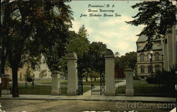 Brown University, John Nicholas Brown Gate Providence Rhode Island