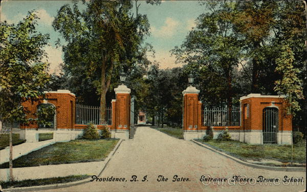 The Gates, Entrance Moses Brown School Providence Rhode Island