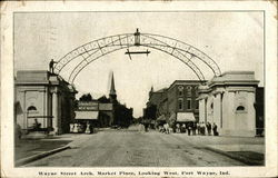 Wayne Street Arch, Market Place Looking West