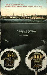 North or Hudson River Showing Cross Section Penn. Tunnel