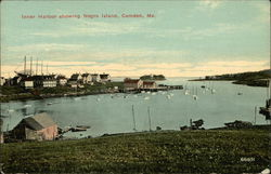 Inner Harbor showing Negro Island Postcard
