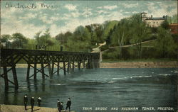 Tram Bridge and Avenham Tower Postcard