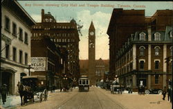 Bay Street showing City Hall and Temple Building