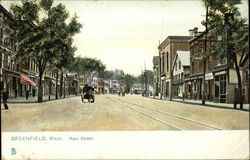 Main Street In Greenfield, Massachusetts Postcard