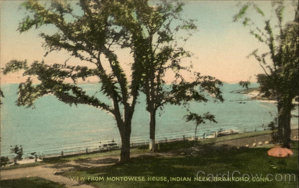 Water View from Monotwese House, Indian Neck Branford Connecticut