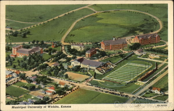 Aerial View of Municipal University Wichita Kansas