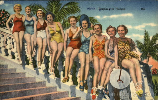 Peaches in Florida Swimsuits & Pinup