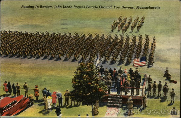 Passing in Review, John Jacob Rogers Parade Ground Fort Devens Massachusetts