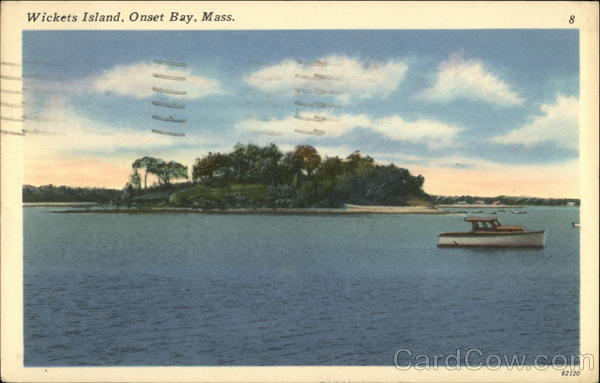 Water View of Wickets Island, Onset Bay Wareham Massachusetts