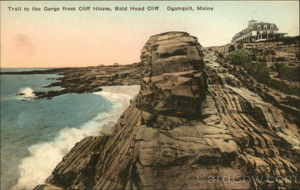 Trail to the Gorge from Cliff House, Bald Head Cliff Ogunquit Maine