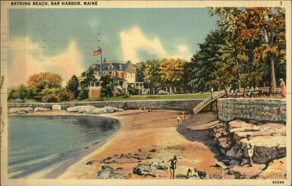 Bathing Beach Bar Harbor Maine