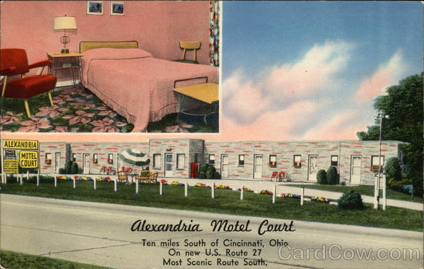 Alexandria Motel Court Cincinnati Ohio