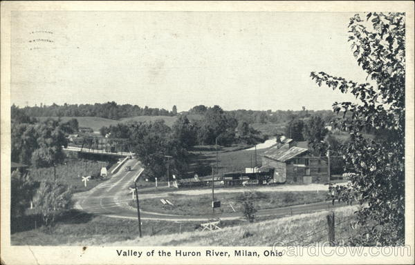 Scenic View - Valley of the Huron River Milan Ohio