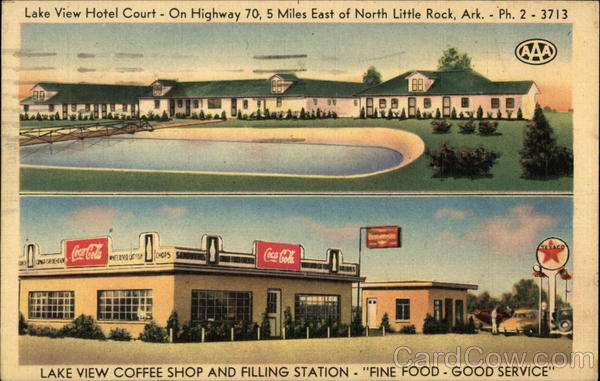 Lake View Hotel Court and Coffee Shop North Little Rock Arkansas