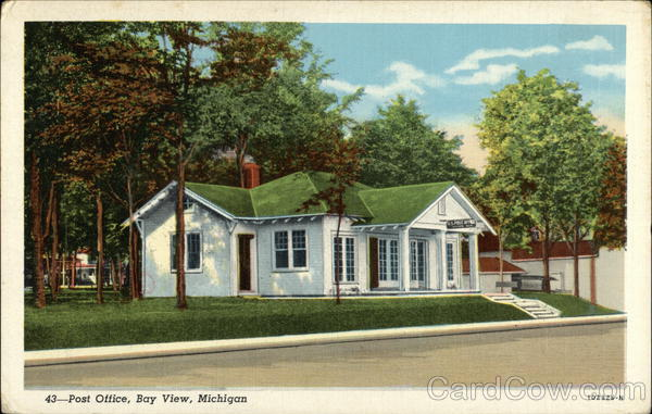 Street View of Post Office Bay View Michigan