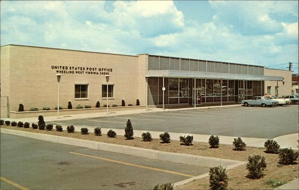 United States Post Office and Parking Lot Wheeling West Virginia