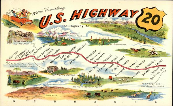 Map of US Highway 20 Maps