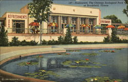 Chicago Zoological Park - Restaurant Postcard