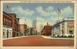 Post Office and Michigan Avenue, Looking West