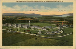 Aerial View of the Veterans Hospital in the Adirondack Mountains