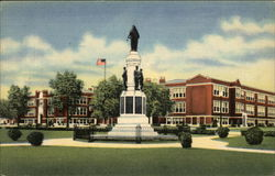Union Endicott High School and World War Monument