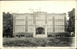 Science Hall, Otterbein College Postcard