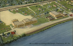 Aerial View of Morris Harvey College Buildings across Kanawha River