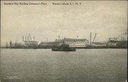 Water View of Standars Ship Building Company's Plant