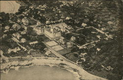 Aerial View of the Oceanside and Cottages