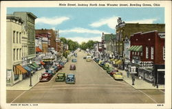 Main Street, looking North from Wooster Street Postcard