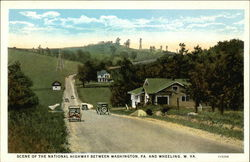 Scene of the national highway between Washington, PA. and Wheeling, W. VA.