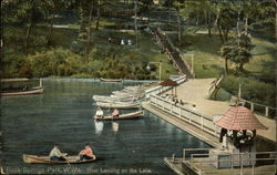 Boat Landing on the Lake, Rock Springs Park