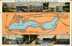 Map and Pictures of Lake Geneva, WI