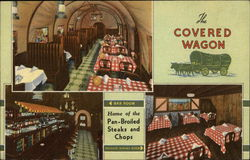 Covered Wagon Restaurant Postcard
