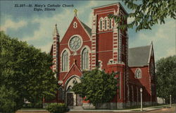 St Mary's Catholic Church - Largest Church in the Aurora Area Postcard