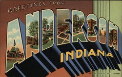 Greetings from Anderson, Indiana Postcard