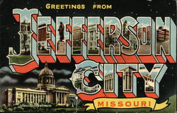 Greetings from Jefferson City Postcard