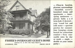 Fisher's overnight guest's home