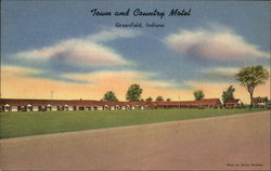 Town and Country Motel Postcard