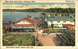 Roller Rink, Bath House, Toboggan Slide, Ideal Beach Resort, Shafer Lake