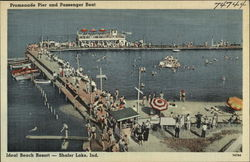 Promenade Pier and Passenger Boat, Shafer Lake