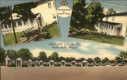 Avalon Cour-Tel Postcard