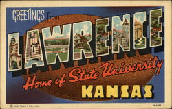 Greetings from Lawrence, Kansas - Home of State University
