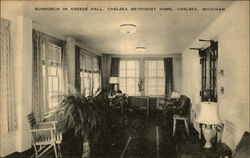 Sunporch in Kresge Hall, Chelsea Methodist Home