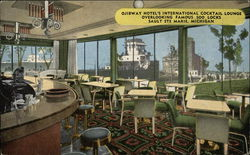 Ojibway Hotel's International Cocktail Lounge Overlooking Famous Soo Locks