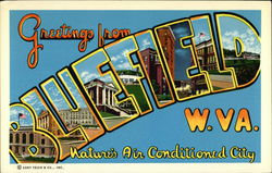 Greetings from Bluefield, West Virginia - Nature's Air Conditioned City Postcard