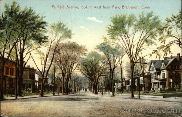 Fairfield Avenue, Looking West from Park Bridgeport Connecticut