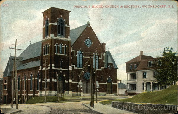 Precious Blood Church and Rectory Woonsocket Rhode Island