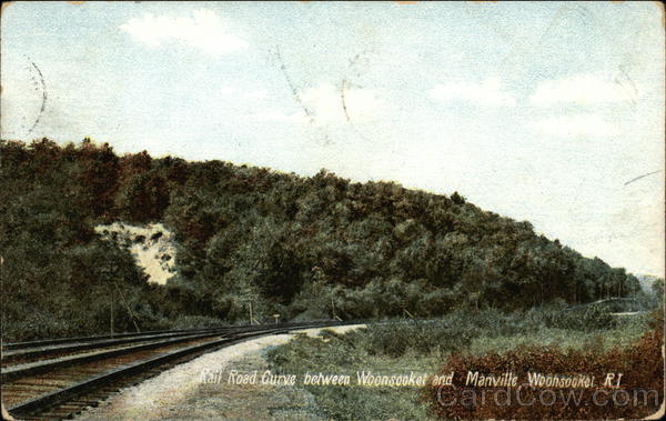 Railroad Curve between Woonsocket and Manville Rhode Island