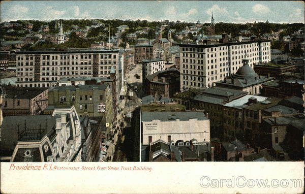 Westminster Street from Union Trust Building Providence Rhode Island